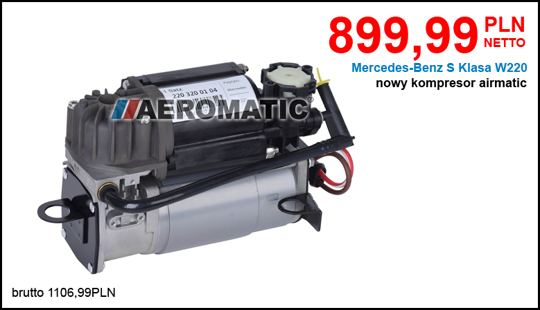 Kompresor układu zawieszenia Airmatic Mercedes-Benz W220 S Klasa